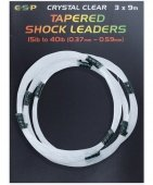 Шок лидер конусный E-S-P Tapered Shock leaders - 3 x 9m / 0,37-0,59mm / 15-40lb