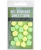 Плавающие приманки E-S-P Big Fluoro Buoyant Sweetcorn - Green/Yellow - 18шт.