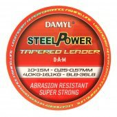 Шок лидер конусный DAM DAMYL® STEELPOWER® Tapered Leader