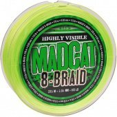 Леска плетеная MADCAT® 8-BRAID FLUORO GREEN