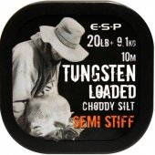Поводковый материал E-S-P TUNGSTEN LOADED - SEMI STIFF / 20lb / 10m