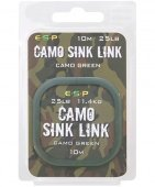 Поводковый материал E-S-P CAMO SINK LINK - Camo Brown & Camo Green  / 10m