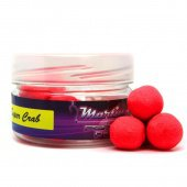 Бойлы плавающие Martin SB XTRA Pop-Ups Super Crab Fluoro - Red 15mm/25гр.
