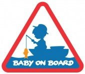 Наклейка Delphin BABY on BOARD Sticker / 100x87mm