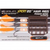 Поводок KORUM XPERT POWER MONO HAIR RIG BARBED 4 шт.