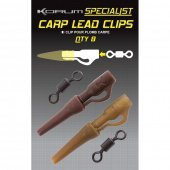 Клипса для грузил с конусом и вертлюгом KORUM XPERT Carp Lead Clips