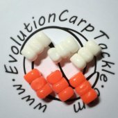 Плавающие насадки Evolution Carp Tackle Corn Stacks - White & Orange 6шт.