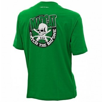 "Футболка MADCAT® ""SKULL & CLONKS"" T-Shirt GREEN"