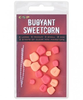 Плавающие приманки E-S-P Fluoro Buoyant Sweetcorn - Red/Orange - 16шт.