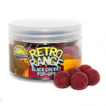 Бойлы плавающие Crafty Catcher RETRO Black Cherry Pop-Up - 15mm/100гр.